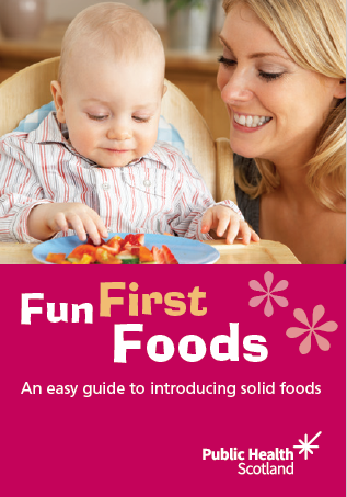 image - Fun first foods: an easy guide to introducing solid foods - Available for Health Visitors only to order